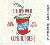 fresh drink vintage graphic... | Shutterstock .eps vector #338684006