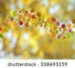 autumn abstract floral... | Shutterstock . vector #338693159