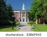 Stock photo harvard classic university building on campus 33869542