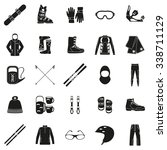 set of equipment  cloth and... | Shutterstock .eps vector #338711129