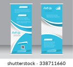 roll up banner stand template.... | Shutterstock .eps vector #338711660