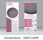 roll up banner stand template.... | Shutterstock .eps vector #338711699