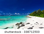 amazing beach with white sand... | Shutterstock . vector #338712503
