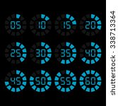 vector timer icons set | Shutterstock .eps vector #338713364