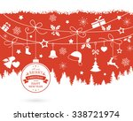 various hanging christmas... | Shutterstock .eps vector #338721974