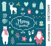 merry christmas decoration... | Shutterstock .eps vector #338725049
