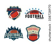 american football logo template ... | Shutterstock .eps vector #338728970