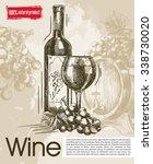 tasting of vintage wines.... | Shutterstock .eps vector #338730020