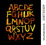 handwritten alphabet. vector   Shutterstock .eps vector #338735309
