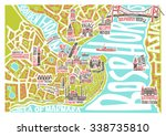 vector illustration istanbul map | Shutterstock .eps vector #338735810