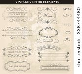 decorative vintage set of... | Shutterstock .eps vector #338744480
