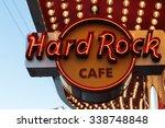 las vegas   hard rock cafe  as... | Shutterstock . vector #338748848