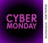 vector cyber monday sale... | Shutterstock .eps vector #338750900
