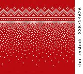 christmas sweater design.... | Shutterstock .eps vector #338754626