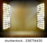 stadium spotlights. vector...   Shutterstock .eps vector #338756630