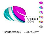 set of abstract speech bubble... | Shutterstock .eps vector #338762294