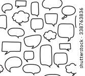 seamless pattern with speech... | Shutterstock .eps vector #338763836