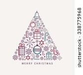 christmas greeting card. | Shutterstock .eps vector #338775968