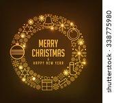 christmas greeting card. | Shutterstock .eps vector #338775980