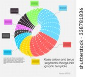 abstract torus info graphics... | Shutterstock .eps vector #338781836