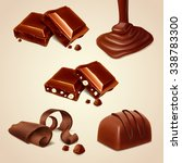 icons chocolate   Shutterstock .eps vector #338783300
