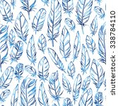 seamless vector pattern with... | Shutterstock .eps vector #338784110