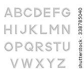 decorative retro alphabet.... | Shutterstock .eps vector #338785040