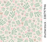 childish seamless pattern with... | Shutterstock .eps vector #338797946