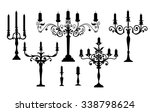 candle stand set   vector | Shutterstock .eps vector #338798624