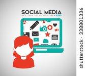 social media design  vector...   Shutterstock .eps vector #338801336