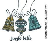 jingle bells. print design | Shutterstock .eps vector #338805794