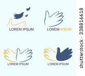 freedom hand logo | Shutterstock .eps vector #338816618