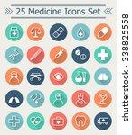 set of 25 line medicine icons... | Shutterstock .eps vector #338825558