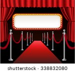 red carpet movie premiere... | Shutterstock .eps vector #338832080