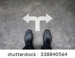 black shoes standing at the... | Shutterstock . vector #338840564