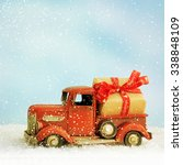 toy car with christmas gift | Shutterstock . vector #338848109