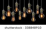 collection of vintage glowing... | Shutterstock . vector #338848910