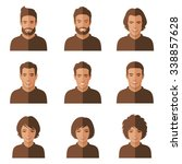 Vector People Faces. Woman  Ma...