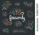 hand drawn vector colorful... | Shutterstock .eps vector #338867849