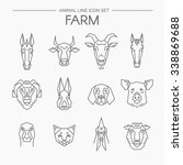 Vector Linear Set Of Farm...