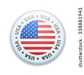 usa button | Shutterstock . vector #338881943