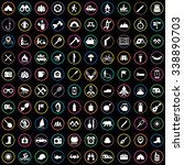 camping 100 icons universal set ... | Shutterstock . vector #338890703