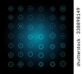 vector set of flat targets and... | Shutterstock .eps vector #338898149