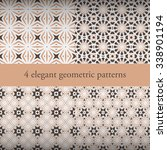 set of elegant geometric... | Shutterstock .eps vector #338901194