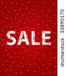 sale poster with bubbles. the... | Shutterstock . vector #33890170