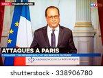 paris  france   nov 13  2015 ... | Shutterstock . vector #338906780