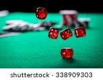 rolling casino dice | Shutterstock . vector #338909303