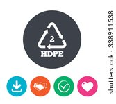 pe hd 2 icon. polyethylene high ...   Shutterstock .eps vector #338911538