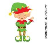 christmas elf vector...   Shutterstock .eps vector #338928899
