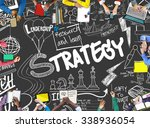 strategy doodle freehand...   Shutterstock . vector #338936054